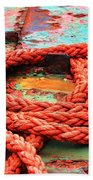 Rusty Old Ship Beach Towel