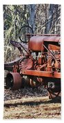 Rusty Old Tractor Beach Towel