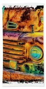 Rusty Old Truck Beach Towel