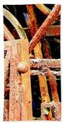 Rusty Railings Beach Towel