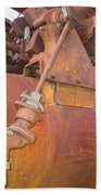 Rusty Steam Tractor Beach Towel