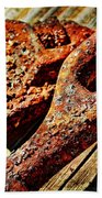 Rusty Tools I With Texture Beach Towel
