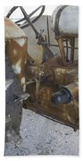 Rusty Tractor Beach Towel