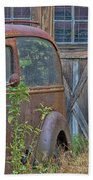 Rusty Vintage Ford Panel Truck Beach Towel