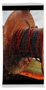 Rusty Winch  Beach Towel
