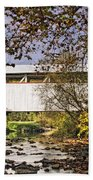 Ryot Covered Bridge And Stream Beach Towel