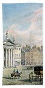 Sackville Street, Dublin, Showing The Post Office And Nelsons Column Beach Towel