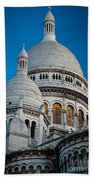Sacre-coeur And Moon Beach Towel