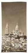 Sacre Coeur Basilica Of Montmartre In Paris Beach Towel