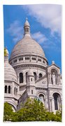 Sacre Coeur Basilica Paris France Beach Towel