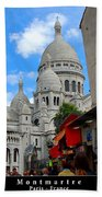 Sacre Coeur In Montmartre Beach Towel