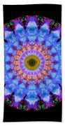 Sacred Crown - Mandala Art By Sharon Cummings Beach Towel