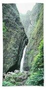 100450-sacred Falls  Beach Towel