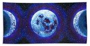 Sacred Feminine Blue Moon Beach Towel