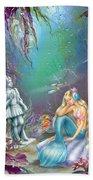 Sad Little Mermaid Beach Towel by Zorina Baldescu