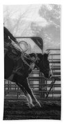 Saddle Bronc Riding Beach Towel