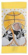 Saddle Oxfords And Basketball Beach Towel