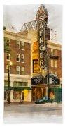 Saenger Theatre New Orleans Paint 2 Beach Towel