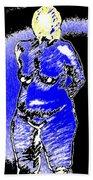 Safe Blue Woman Beach Towel