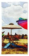 Safe From The Wind Beach Towel