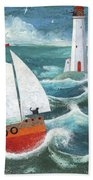 Safe Passage Variant 1 Beach Towel by Peter Adderley