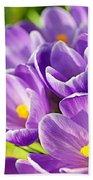 Saffron Flowers. Beach Towel