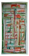 Sage Abstract Beach Towel