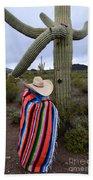 Saguaro Cactus The Visitor 1 Beach Towel