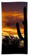 Saguaro Silhouette  Beach Towel