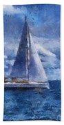 Sail Boat Photo Art 02 Beach Towel
