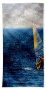 Sailboarding W Metal Beach Towel