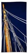 Sailboat Lines Beach Towel