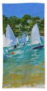 Sailboat Race Beach Towel by Andrew Macara