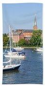 Sailboats By Charles Carroll House Beach Towel