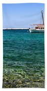 Sailboats On The Water Beach Towel