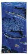 Sailfish Round Up Off0060 Beach Towel