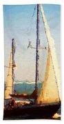 Sailing At Daytona Beach Towel