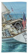 Sailing Away Beach Towel