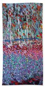 Sailing Among The Flowers Beach Towel