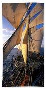 Sailing Boats Kruzenshtern Beach Towel by Anonymous