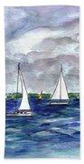 Sailing Day Beach Towel