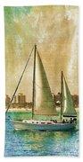 Sailing Dreams On A Summer Day Beach Towel