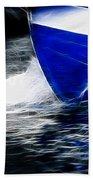 Sailing In Blue Beach Towel