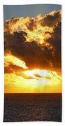 Sailing Into The Sunrise Beach Towel