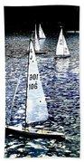 Sailing On Blue Beach Towel