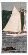 Sailing Portland Beach Towel