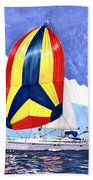 Sailing Primary Colores Spinnaker Beach Towel