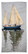 Sailing Puget Sound Beach Towel
