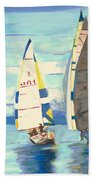 Sailing Regatta At Port Hardy Beach Towel