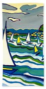 Sailing School Manchester By-the-sea Beach Towel